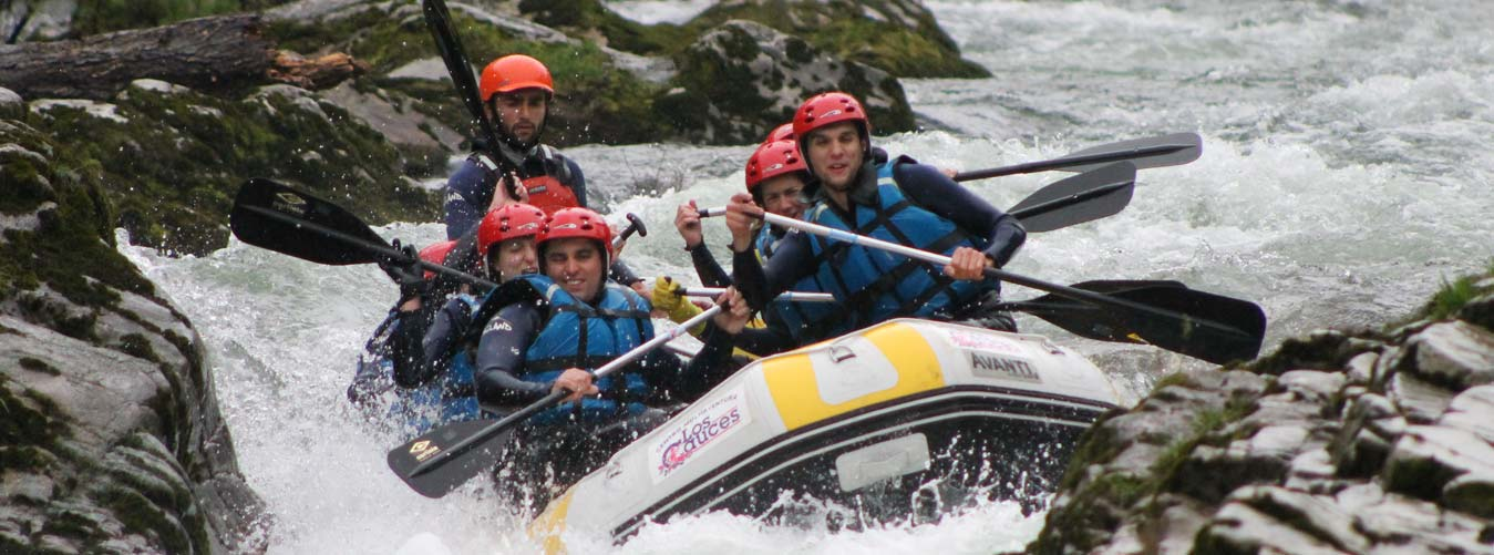 equipo rafting
