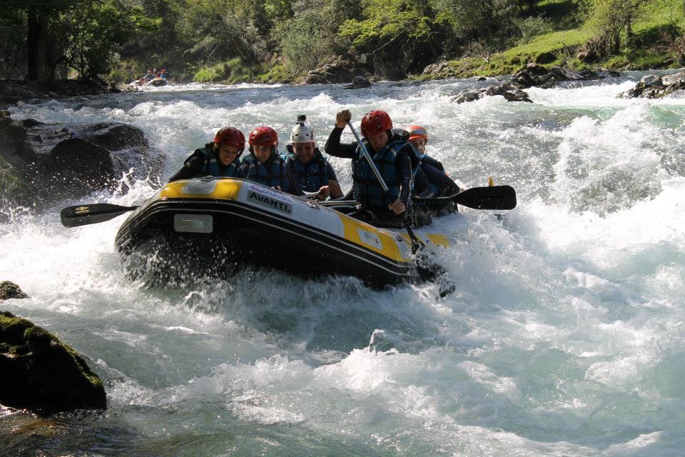 rafting en el sella, asturias, norte de españa