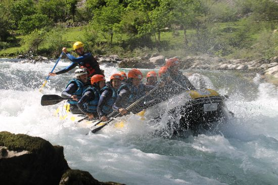 Rafting en el Sella